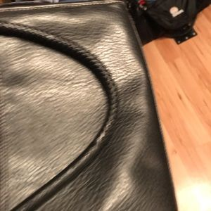 Black faux Brighton purse